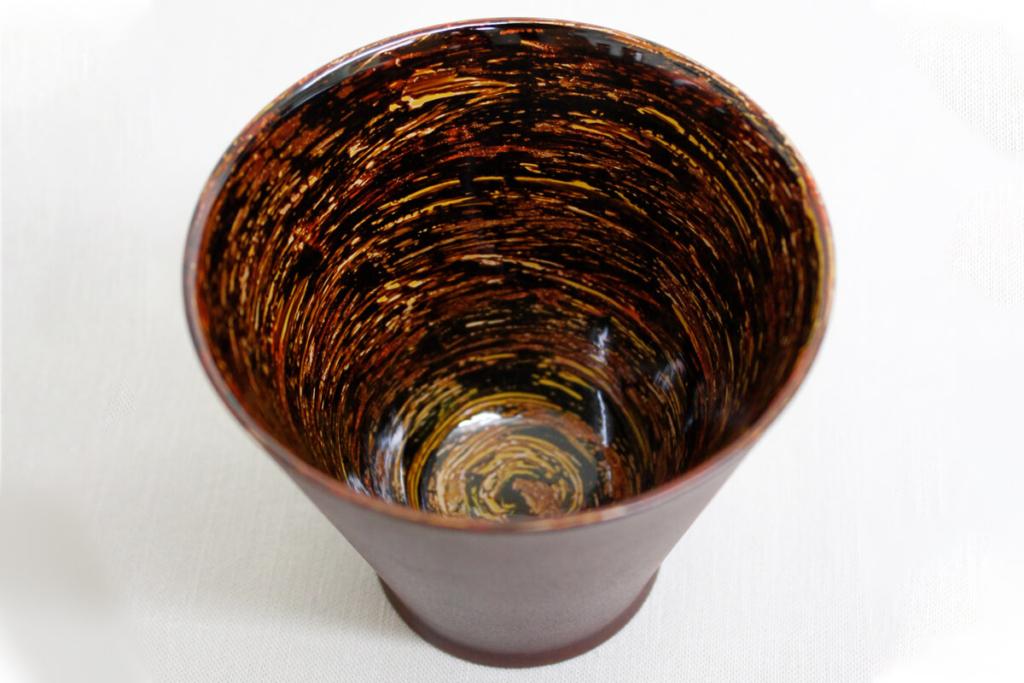 変り塗りカップ